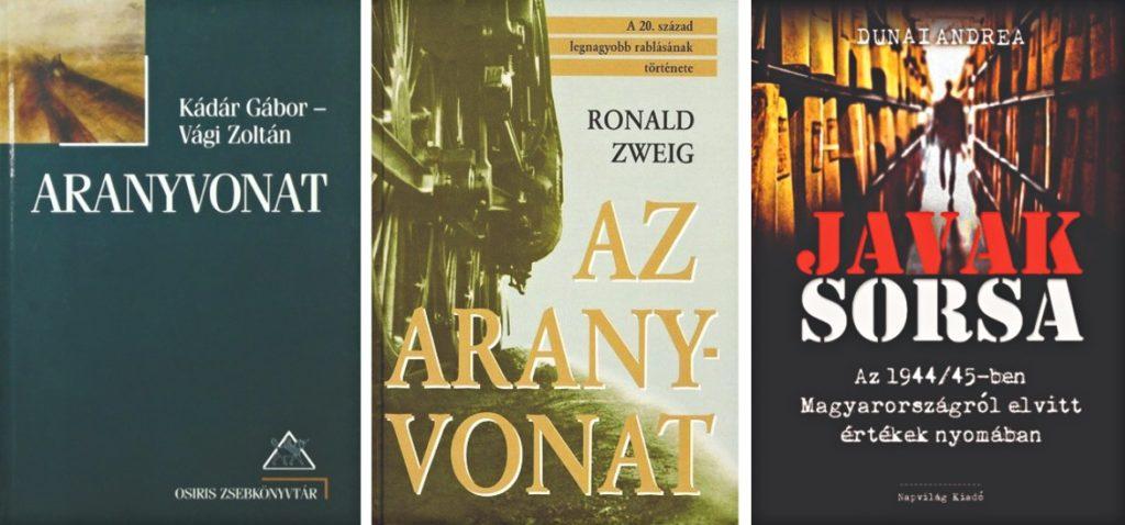 Kádár Gábot és Vági Zoltán, Ronald Zweig és Dunai Andrea könyvei az aranyvonatról