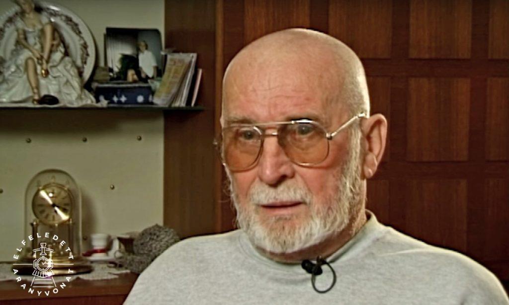 Dorwekinger József portréja 2005-ben, az aranyvonattal kapcsolatos filmben